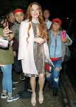 Lindsay Lohan exits from the Mercer Hotel in New York