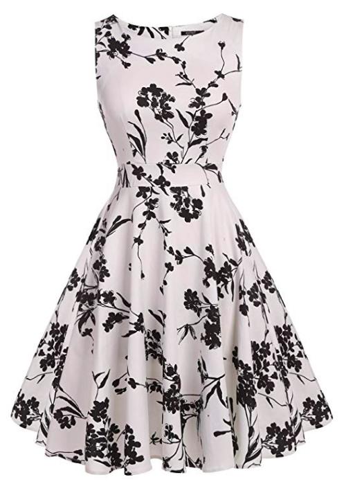 a-line vintage look cocktail dress