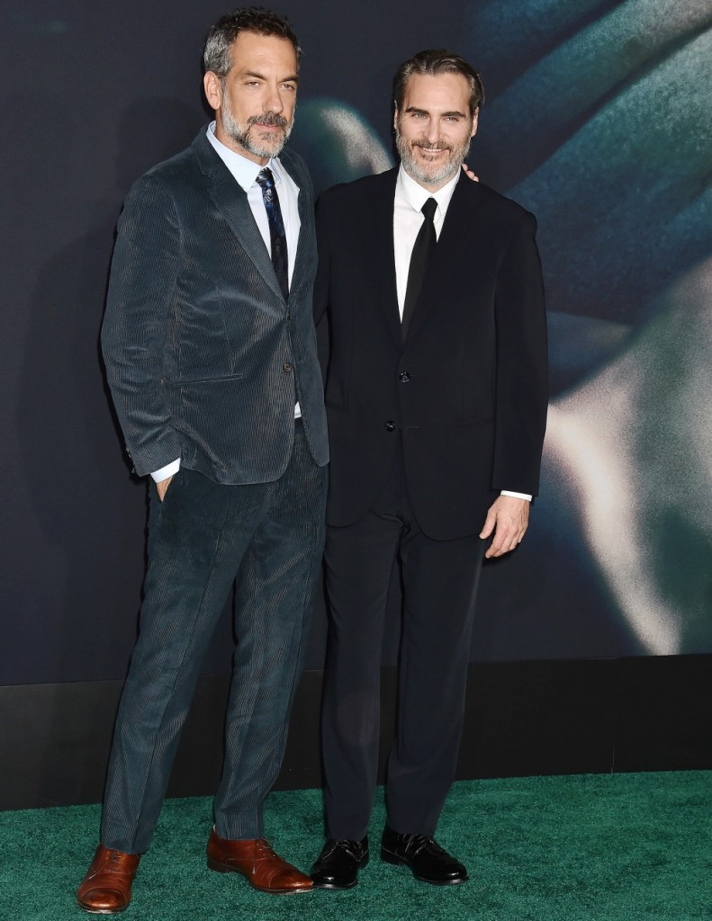 """Todd Phillips, Joaquin Phoenix at the premiere of Warner Bros Pictures """"Joker"""" held at TCL Chinese Theatre IMAX"""