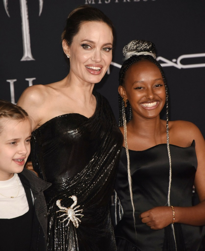 "Angelina Jolie, Zahara Marley Jolie-Pitt attends the World Premiere Of Disney's ÒMaleficent: Mistress Of Evil"" - Red Carpet at El Capitan Theatre on September 30, 2019 in Los Angeles, California© Jill Johnson/jpistudios.com"