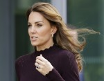 Britain's Kate, The Duchess of Cambridge leaves after a visit to The Natural History Museum in London, Wednesday, Oct. 9, 2019. The Duchess of Cambridge, Patron of the Museum, visited the Natural History Museum's Angela Marmont Centre for UK Biodiversity t