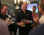 The Duke Of Cambridge Meets Football Fans As Part Of The Heads Up Campaign