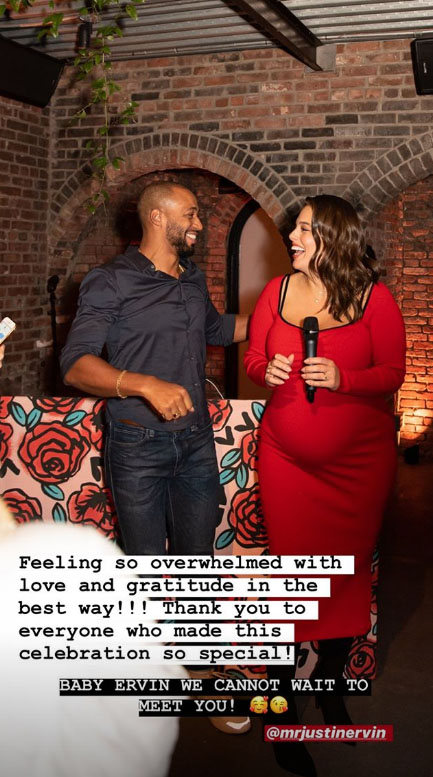 Ashley Graham's baby shower included free tattoos, manicures and piercings