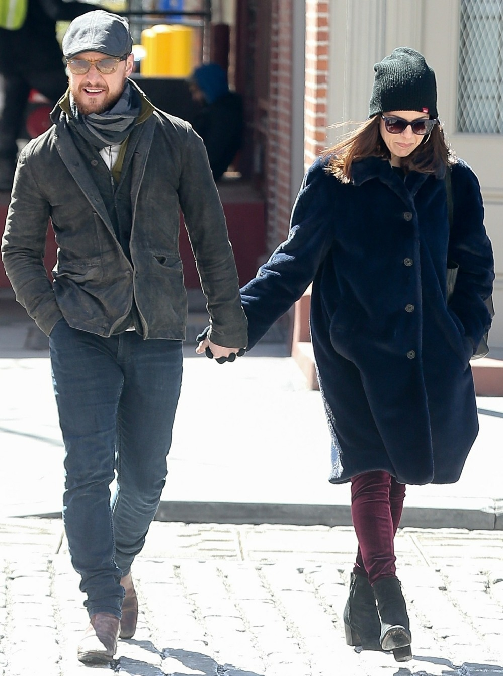 James McAvoy and Lisa Liberati enjoy a romantic stroll together