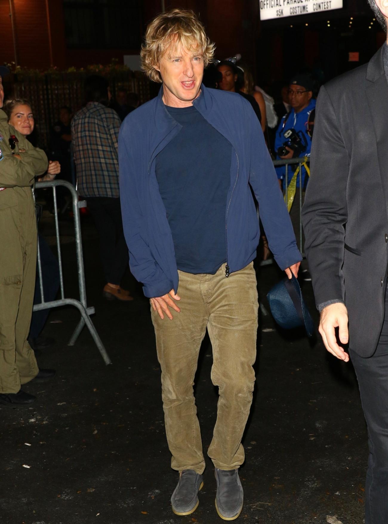 Owen Wilson skips a costume at Heidi Klum's Halloween Party