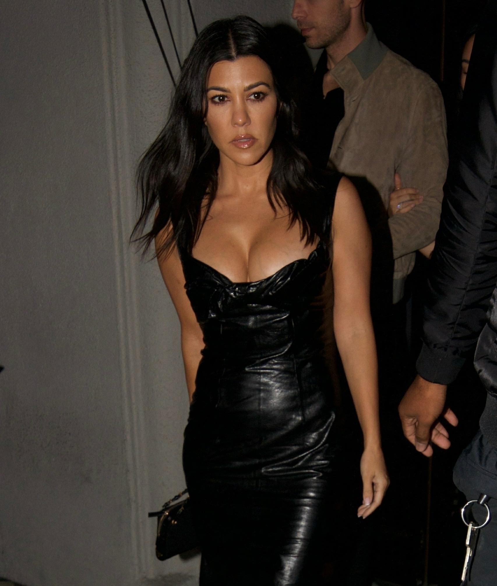 Kourtney Kardashian makes a stylish exit with BFF Stephanie Shepherd from dinner at Craig's