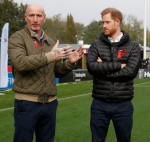 Britain's Prince Harry, Duke of Sussex, visits the Twickenham Stoop in London