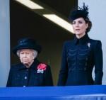 Sua Maestà la Regina, HRH La Duchessa di Cornovaglia e HRH La Duchessa di Cambridge partecipa al National Service of Remembrance al Cenotaph domenica 10 novembre 2019