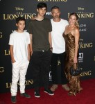"LeAnn Rimes, Eddie Cibrian attends The premiere of  Disney ""The Lion King"" in Los Angeles"