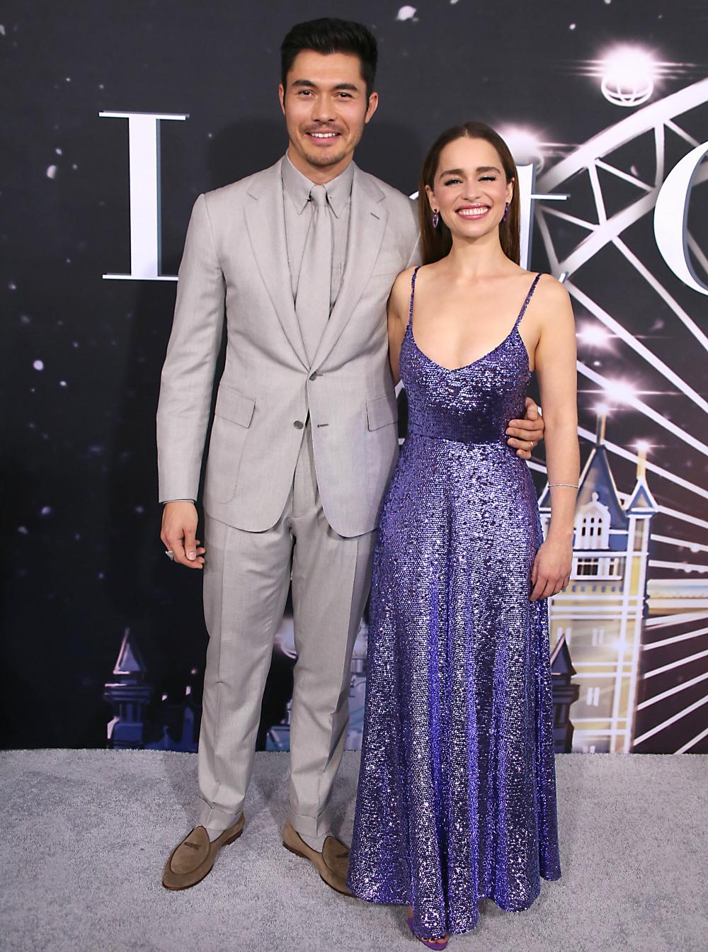 Henry Golding and Emilia Clarke