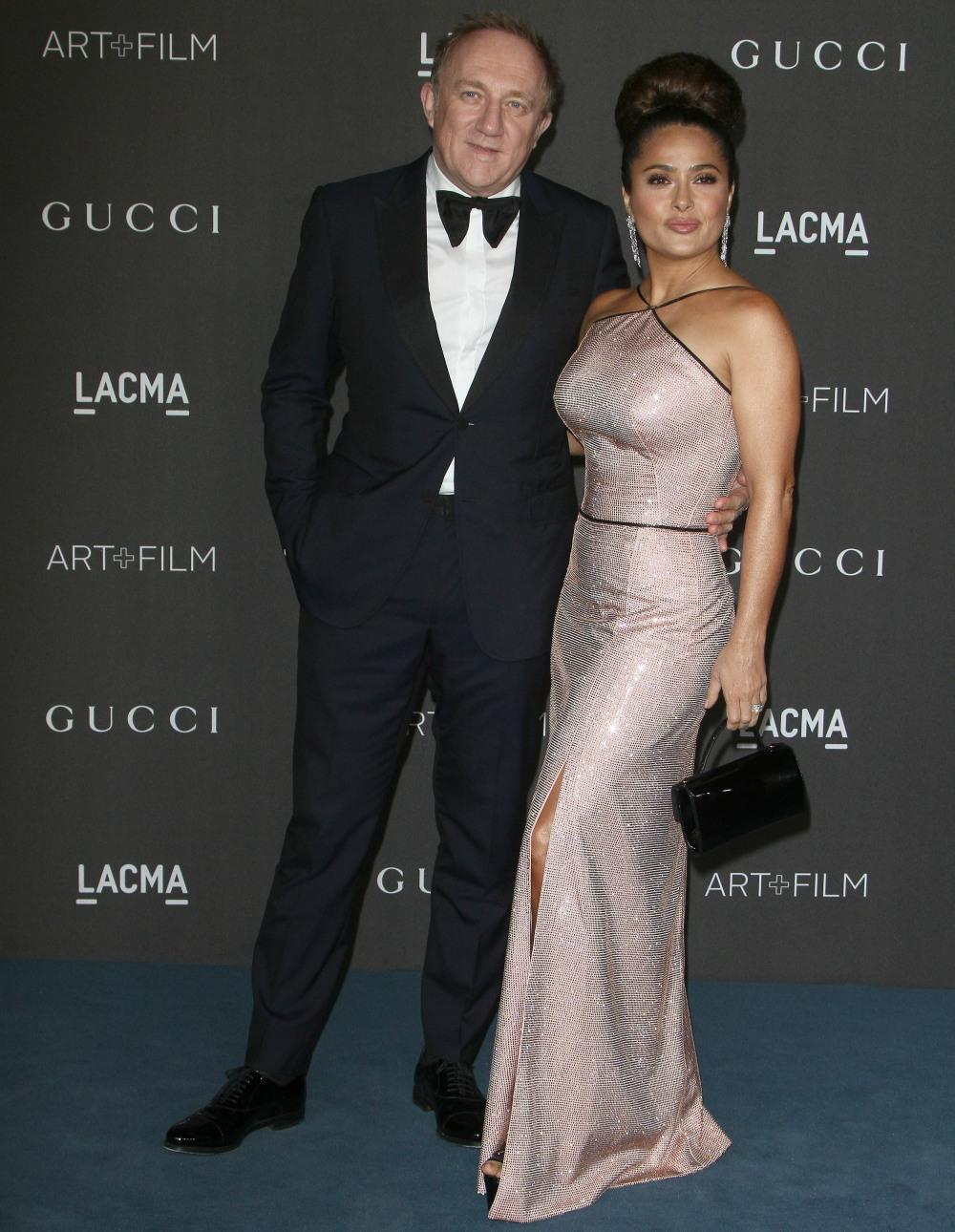 Francois-Henri Pinault, Salma Hayek attends  the 2019 LACMA ART +FILM GALA in Los Angeles