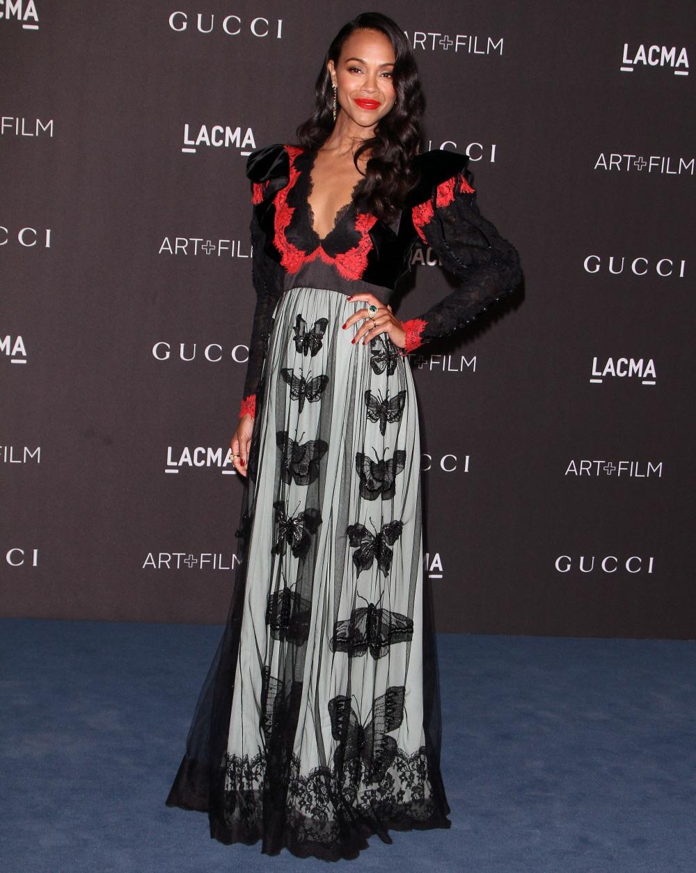 Zoe Saldana attends  the 2019 LACMA ART +FILM GALA in Los Angeles