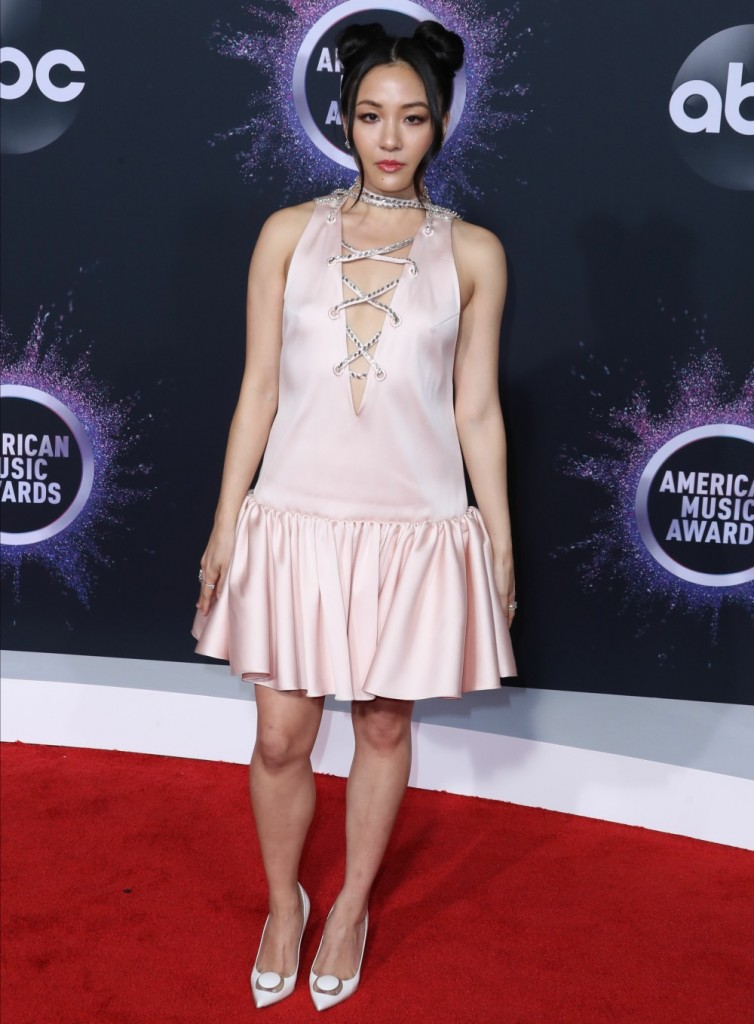 Actress Constance Wu arrives at the 2019 American Music Awards held at Microsoft Theatre L.A. Live on November 24, 2019 in Los Angeles, California, United States.