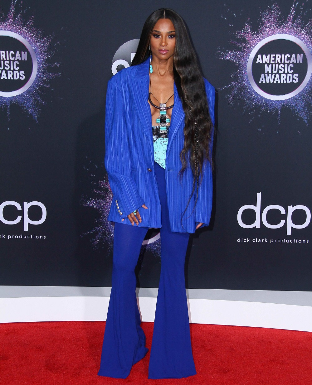 Ciara attends the 2019 American Music Awards - Red Carpet in Los Angeles