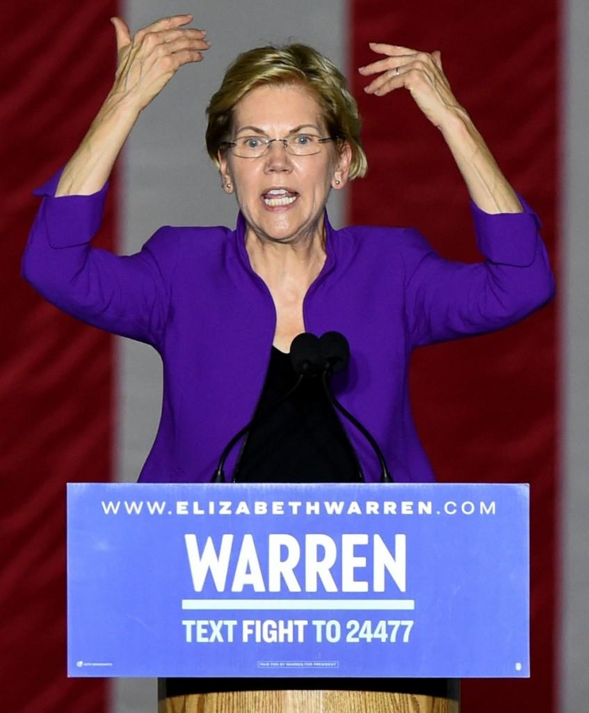 Senator Elizabeth Warren in attendance f...