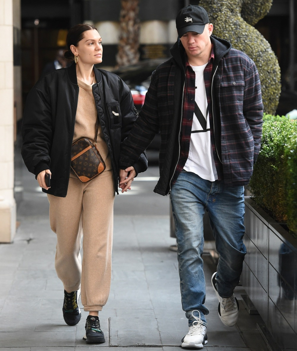 Jessie J and Channing Tatum seen holding hands while out for lunch in London