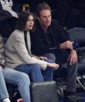 Kaia Gerber and Rande Gerber take in the Chicago Bulls vs New York Knicks game
