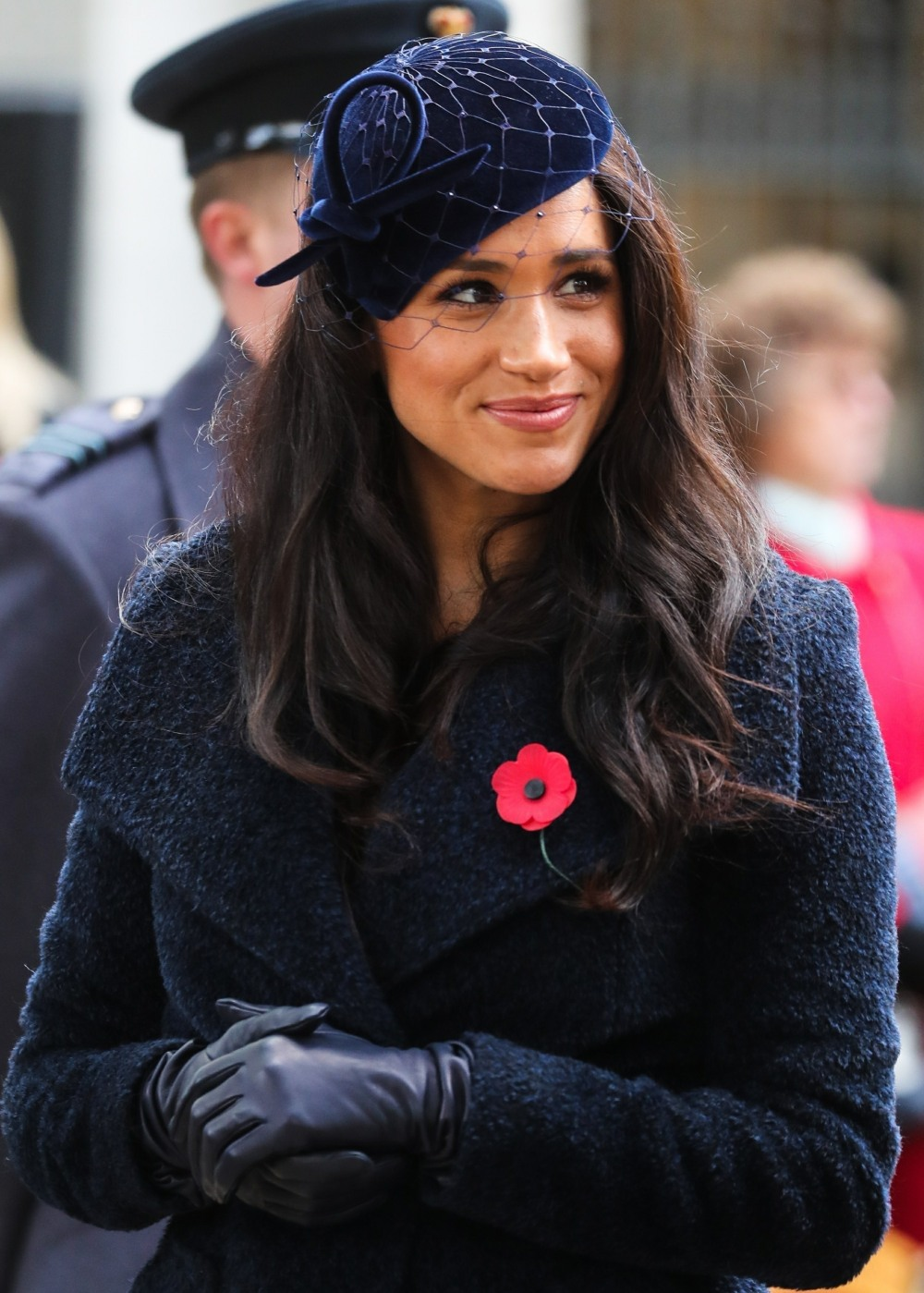 Meghan Duchess of Sussex and Prince Harry Duke of Sussex pictured at Field of Remembrance in London