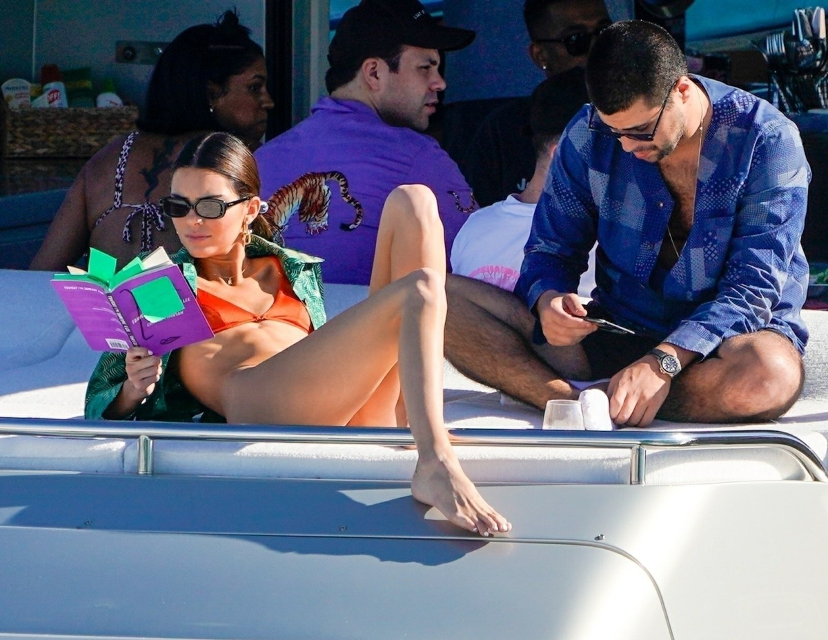 Kendall Jenner takes a cruise aboard David Grutman's lux boat in Miami Beach