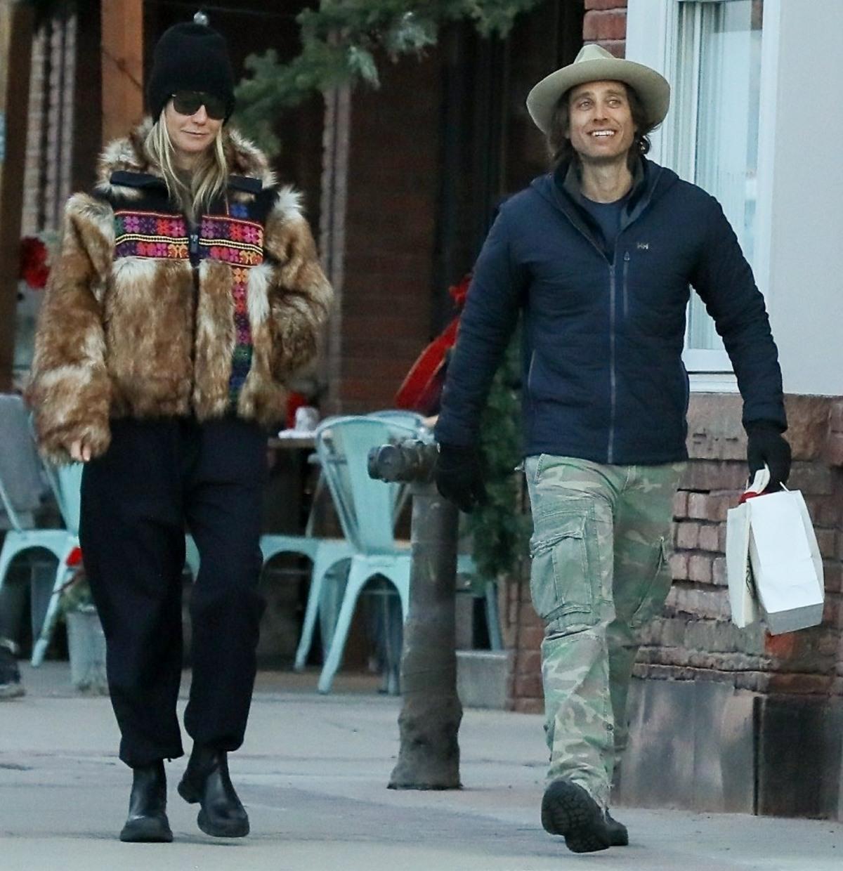 Gwyneth Paltrow and husband Brad Falchuk enjoy a cold post-Christmas stroll in Aspen
