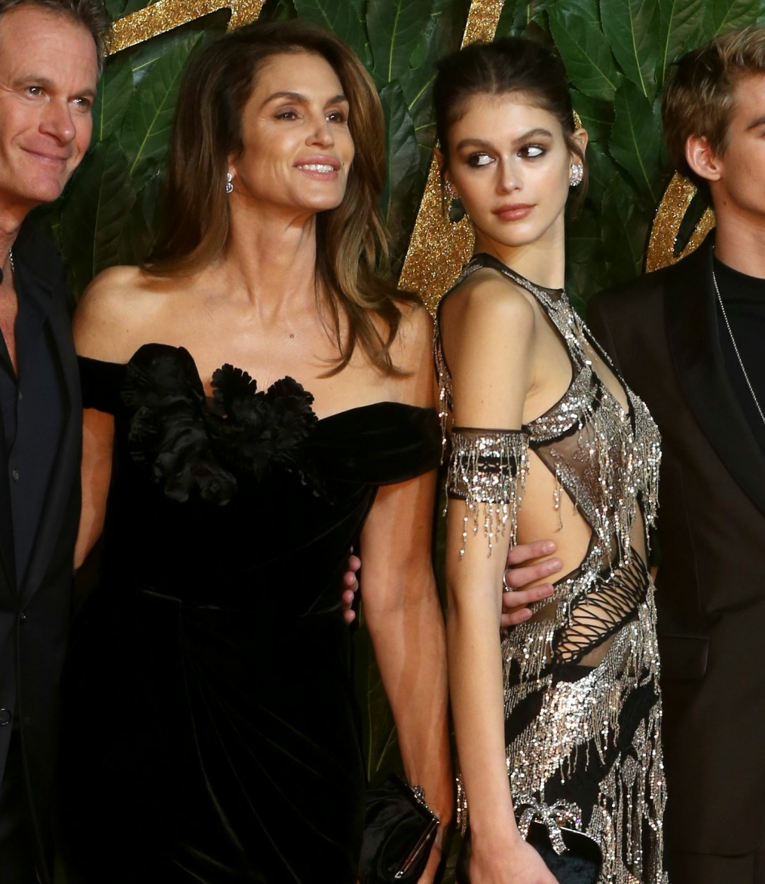 Rande Gerber , Cindy Crawford and Kaia Gerber attends the British Fashion Awards at the Royal Albert Hall,  on Monday 10th December, London, UK. James Shaw/Retna.