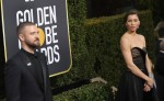 JUSTIN TIMBERLAKE and wife JESSICA BIEL during red carpet arrivals for the 75th Annual Golden Globe Awards, at The Beverly Hilton Hotel. (Credit Image: © Kevin Sullivan via ZUMA Wire)