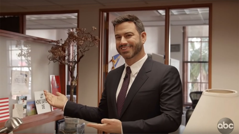 Jimmy Kimmel pranks staff and his poor cousin with a wax figure of himself