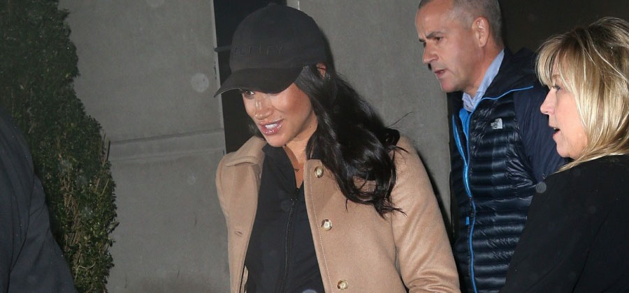 Meghan Markle checks out from The Mark Hotel after her baby shower