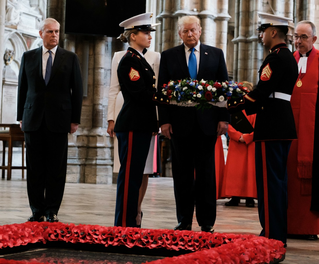 President Trump at Westminster Abbey