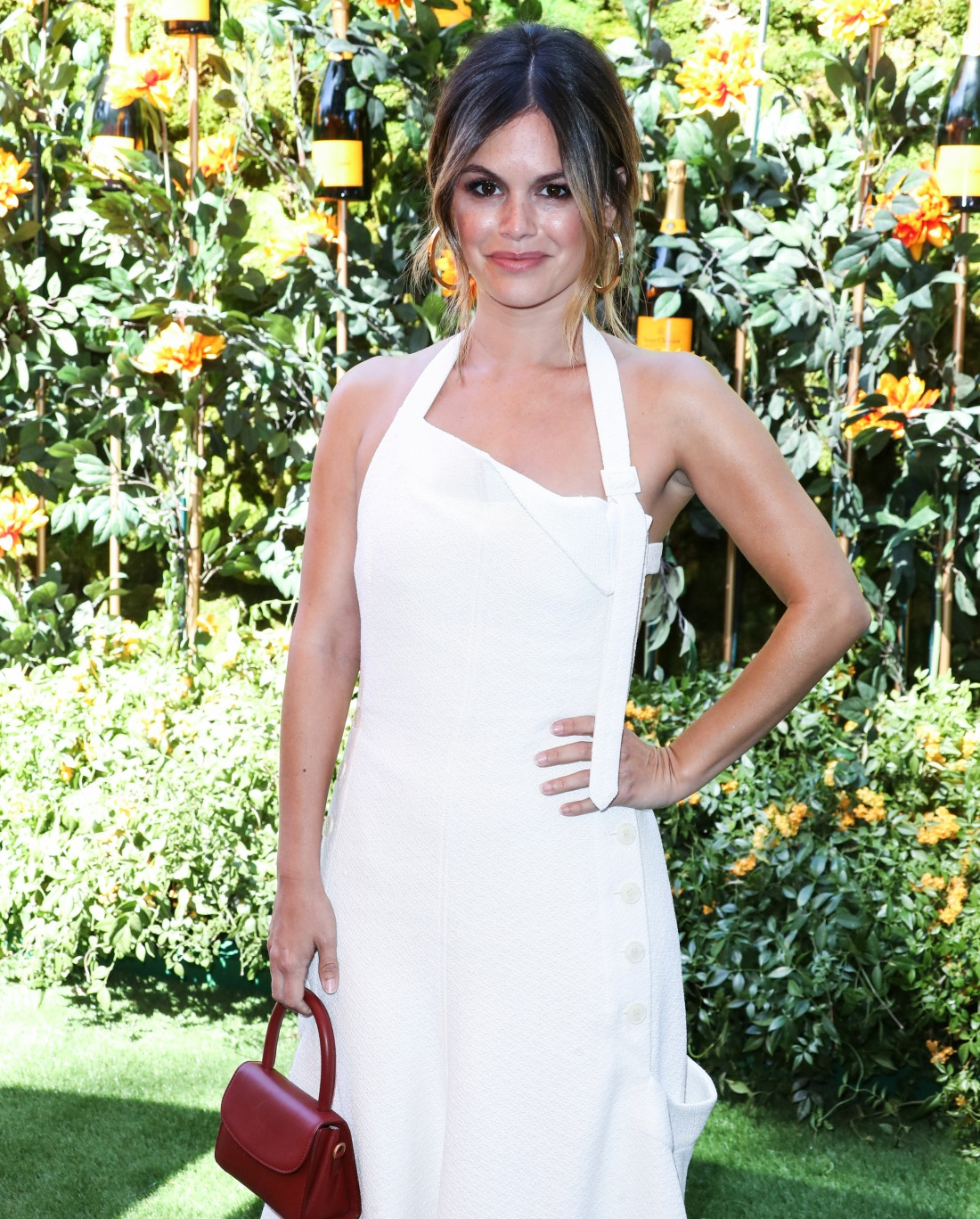 Actress Rachel Bilson wearing a Jacquemus dress arrives at the 10th Annual Veuve Clicquot Polo Classic Los Angeles held at Will Rogers State Historic Park on October 5, 2019 in Pacific Palisades, Los Angeles, California, United States.