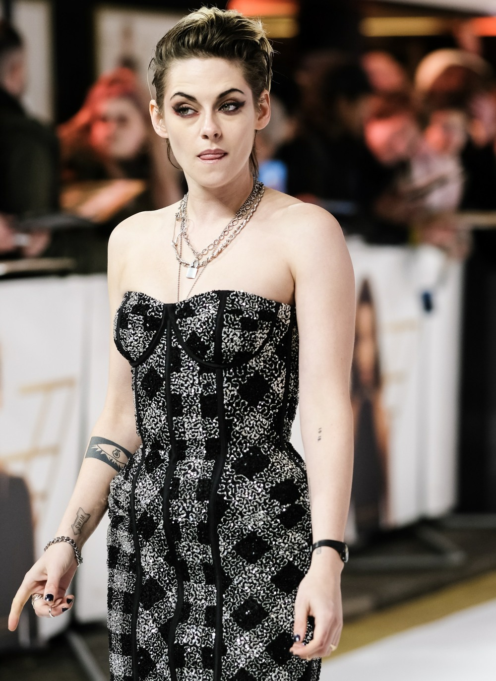 Kristen Stewart poses at the Charile's Angels UK Premiere on Wednesday 20 November 2019