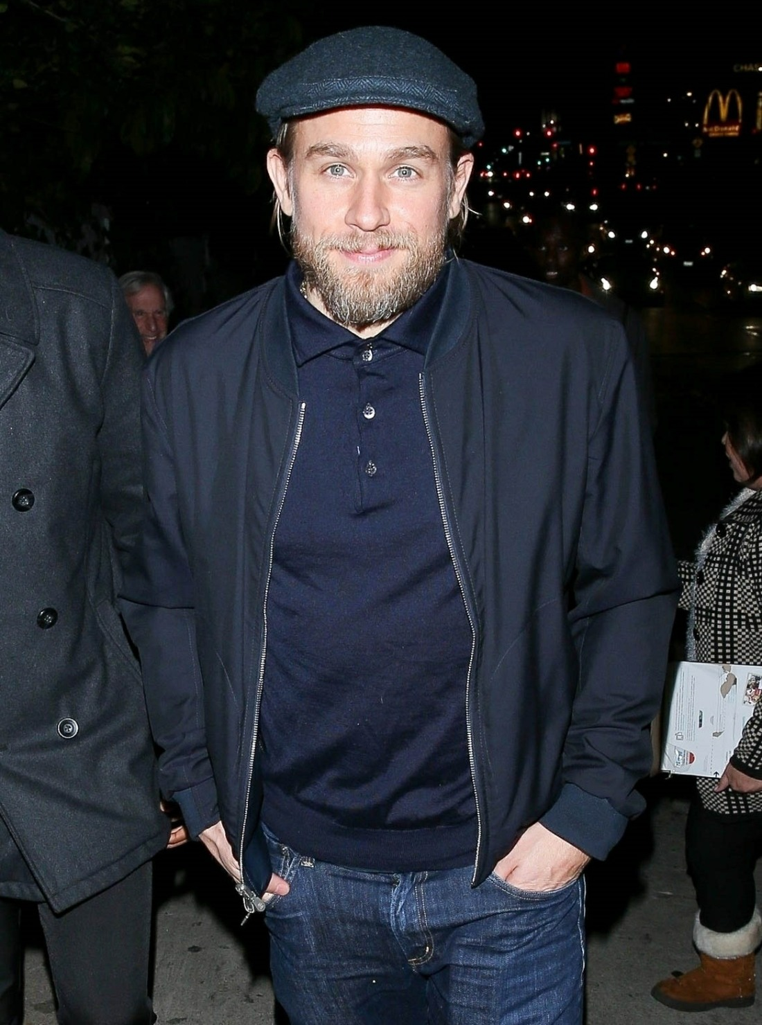 Charlie Hunnam was seen arriving an event at Chateau Marmont Hotel!