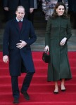 Prince William and Catherine, Duchess of Cambridge pictured at Bradford town hall