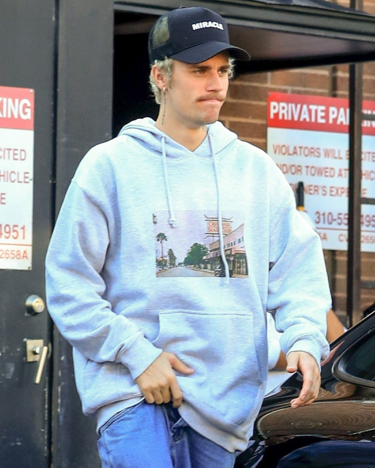 Justin Bieber leaves lunch at Il Pastaio after filming for James Corden's Carpool Karaoke