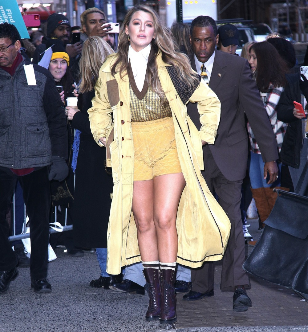 Blake Lively at looks lovely in yellow at Good Morning America