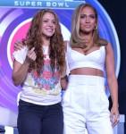Jennifer Lopez and Shakira attend the Super Bowl LIV Pepsi Halftime Press Conference!