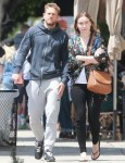 Charlie Hunnam enjoys a day out with his girlfriend Morgana McNelis