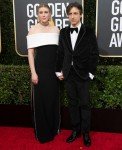 Greta Gerwig and nominee Noah Baumbach arrive at the 77th Annual Golden Globe Awards at the Beverly Hilton in Beverly Hills, CA on Sunday, January 5, 2020.