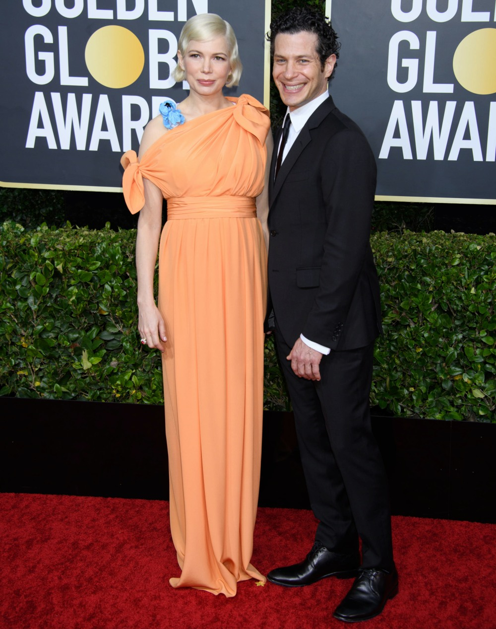 Nominee Michelle Williams and Thomas Kail arrivesat the 77th Annual Golden Globe Awards at the Beverly Hilton in Beverly Hills, CA on Sunday, January 5, 2020.