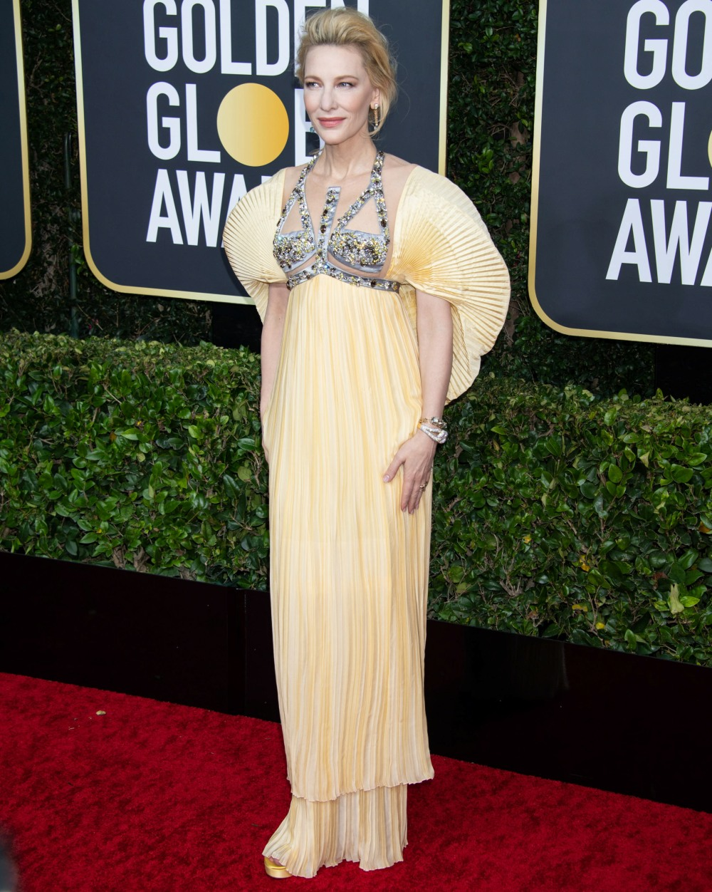Nominee, Cate Blanchett, arrives at the 77th Annual Golden Globe Awards at the Beverly Hilton in Beverly Hills, CA on Sunday, January 5, 2020.