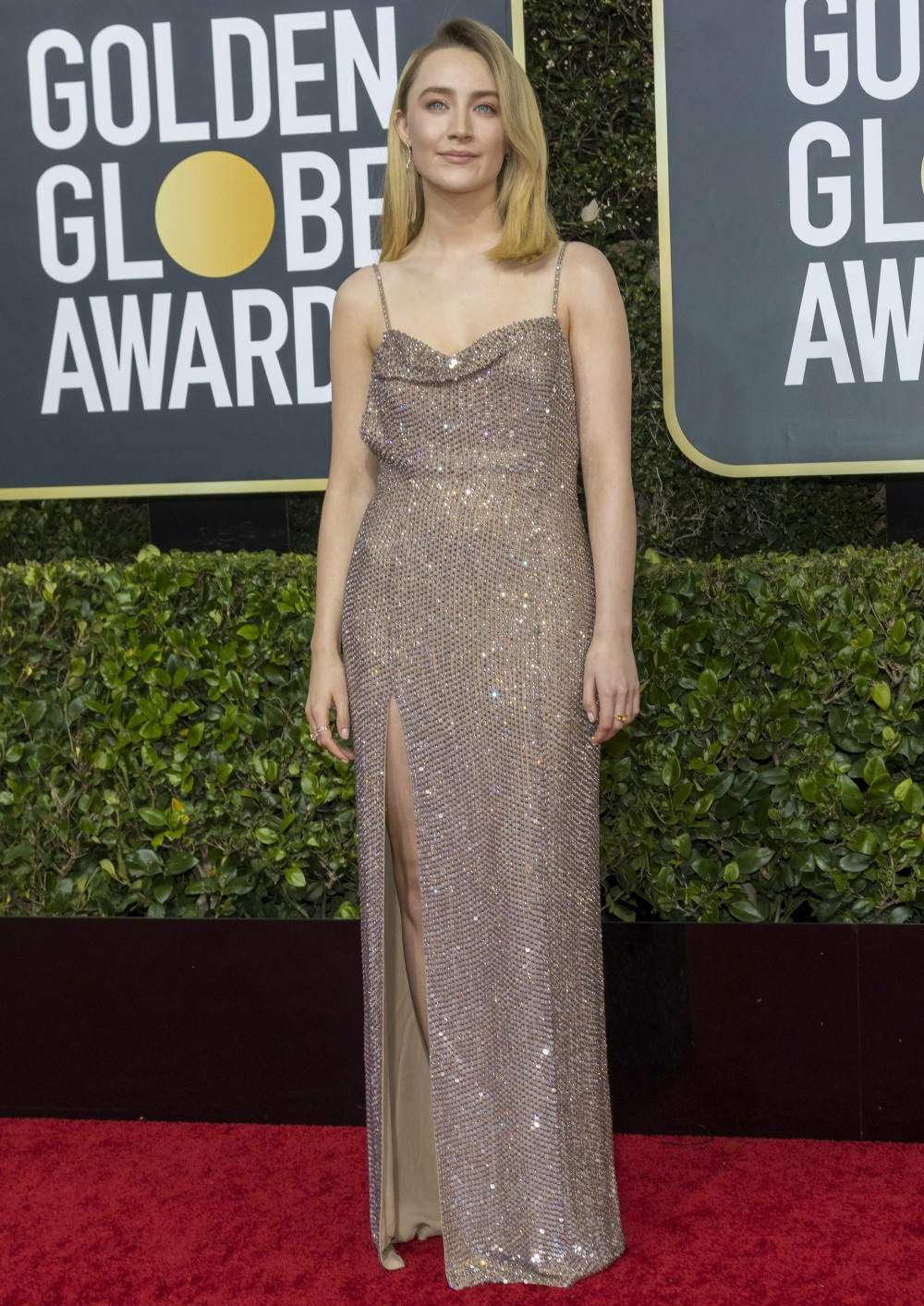 Saoirse Ronan attends the 77th Annual Golden Globe Awards, Golden Globes, at Hotel Beverly Hilton in Beverly Hills, Los Angeles, USA, on 05 January 2020. | usage worldwide