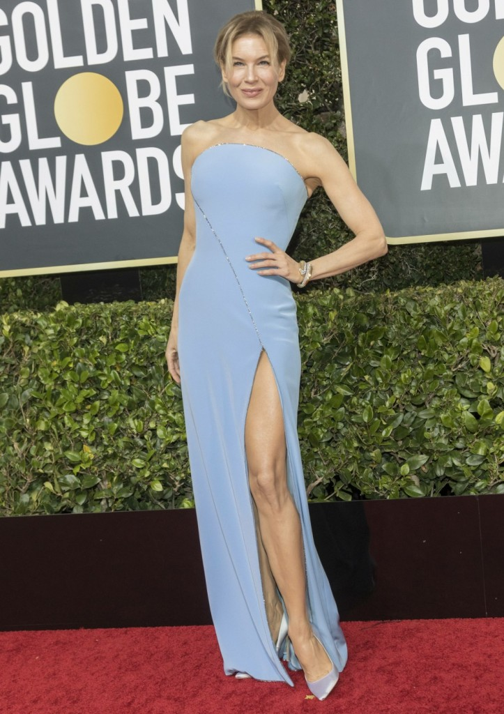 Renee Zellweger attends the 77th Annual Golden Globe Awards, Golden Globes, at Hotel Beverly Hilton in Beverly Hills, Los Angeles, USA, on 05 January 2020. | usage worldwide