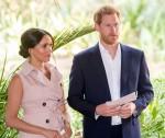 Il principe Harry britannico e sua moglie Meghan, il duca e la duchessa del Sussex in Sudafrica