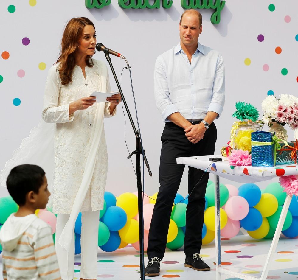 Britain's Prince William and Catherine, Duchess of Cambridge, visit Pakistan