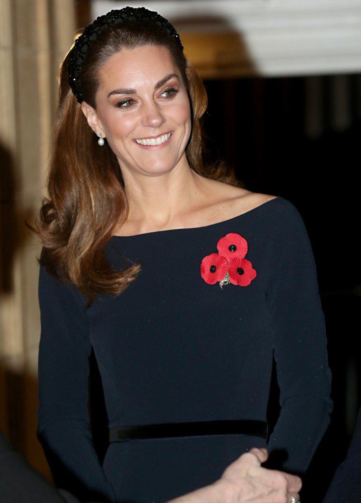 Catherine, Duchess of Cambridge attends the annual Royal British Legion Festival of Remembrance at the Royal Albert Hall on November 09, 2019 in London, England.