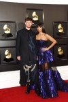 James Blake, Jameela Jamil arrives at the 62nd Annual GRAMMY Awards at Staples Center on January 26, 2020 in Los Angeles, California