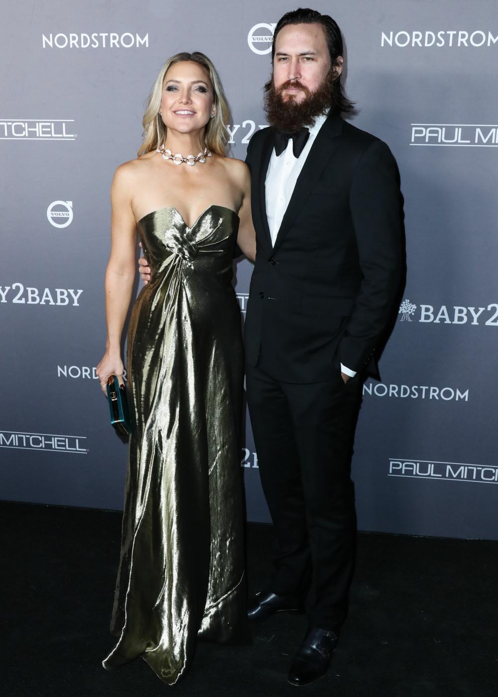 Actress Kate Hudson and husband Danny Fujikawa arrive at the 2019 Baby2Baby Gala held at 3Labs on November 9, 2019 in Culver City, Los Angeles, California, United States.