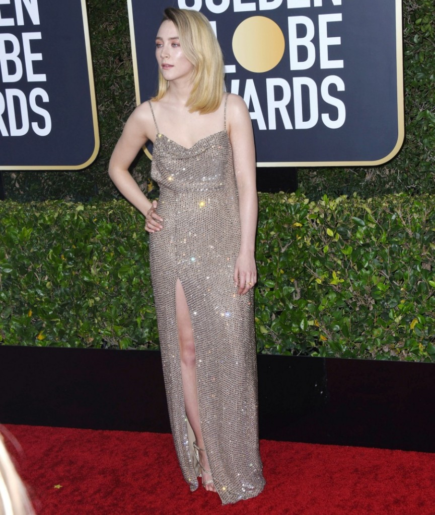 Saoirse Ronan attends the 77th Annual Golden Globe Awards at The Beverly Hilton Hotel on January 05, 2020 in Beverly Hills, California