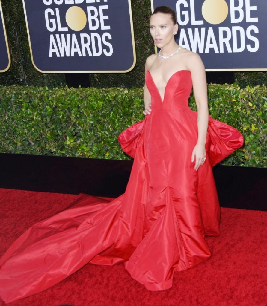 Scarlett Johansson attends the 77th Annual Golden Globe Awards at The Beverly Hilton Hotel on January 05, 2020 in Beverly Hills, California © Jill Johnson/jpistudios.com