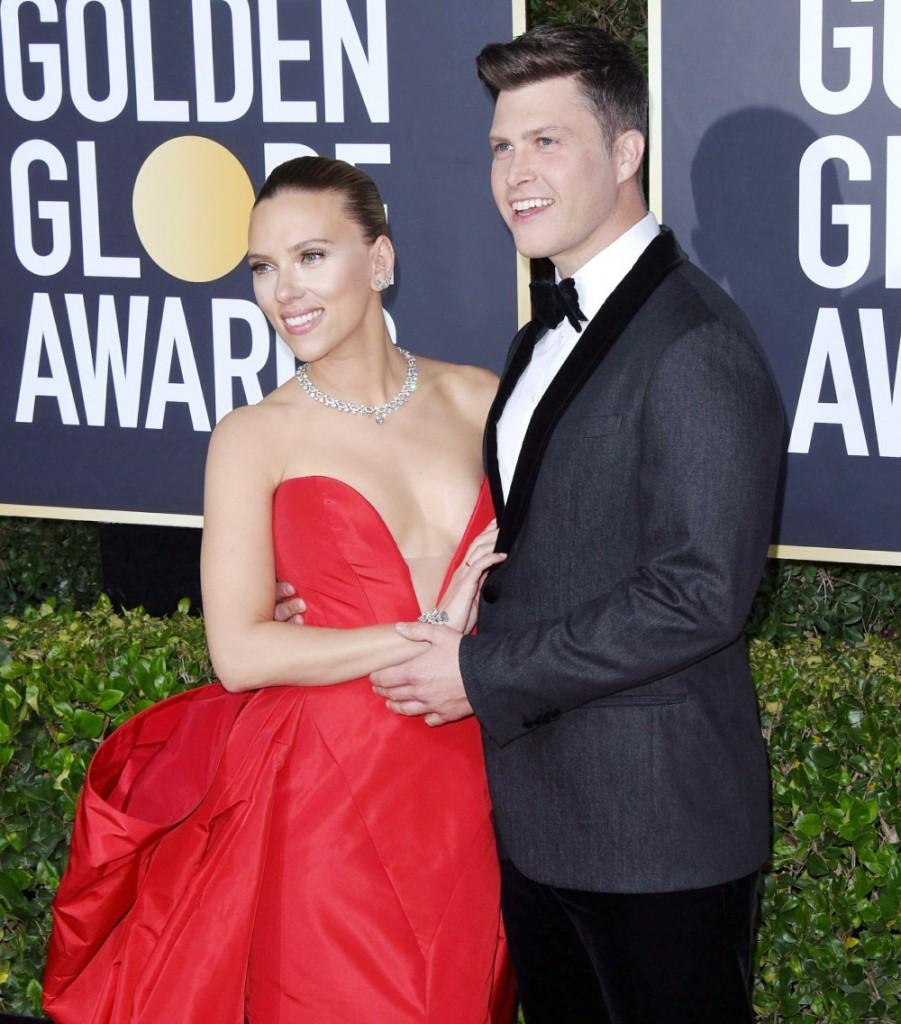 Scarlett Johansson, Colin Jost attends the 77th Annual Golden Globe Awards at The Beverly Hilton Hotel on January 05, 2020 in Beverly Hills, California© Jill Johnson/jpistudios.com